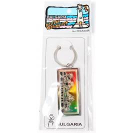Сувенирен метален ключодържател, гравиран със забележителности от България