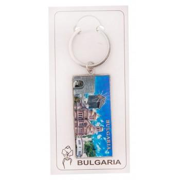 Сувенирен ключодържател с пластина - портата на крепостната стена в Калиакра, старата мелница в Несебър, катедралата във Варна и двореца в Балчик