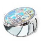 Сувенирно джобно огледало метал с капаче с декорация - забележителности от Варна