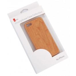 Калъф за телефон i PHONE 5, изработен от PVC материал, имитиращ дърво