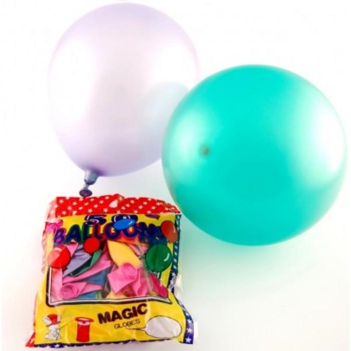 Различни цветове балони 50 броя в пакет