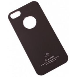 Модерен, тънко стенен калъф за i PHONE 5, който се прикрепва за задната част на телефона - черен