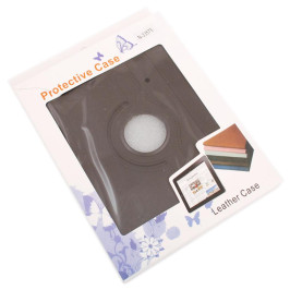 Калъф за таблет IPad3/4, изработен от изкуствена кожа с ластик - черен