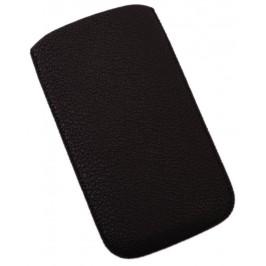 Калъф за телефон Samsung 3, изработен от еко кожа - черен