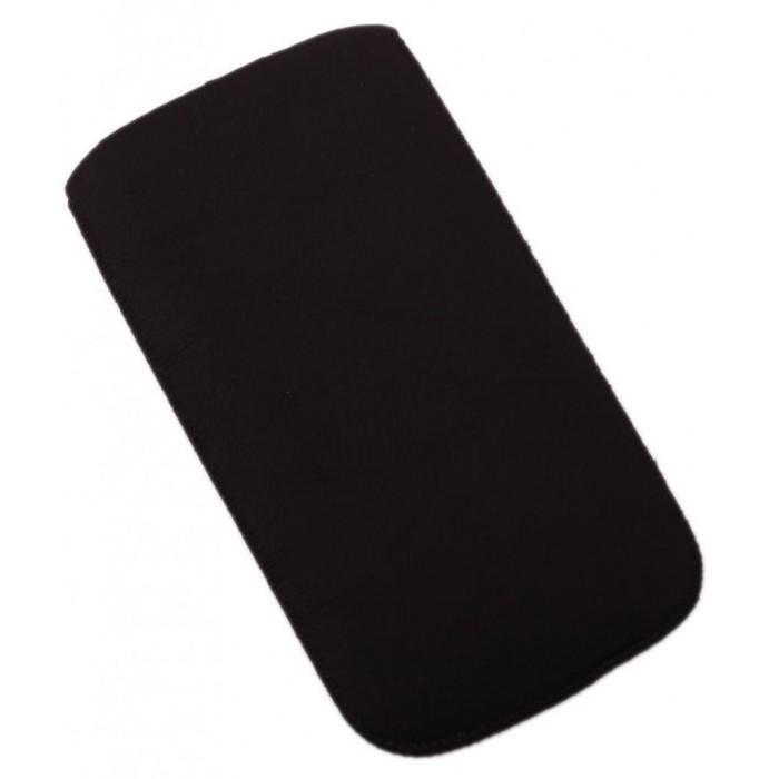 Калъф за телефон iPHONE 5, изработен от еко кожа - черен