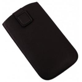 Калъф за телефон Samsung S3 със закопчалка, изработен от мека еко кожа - черен