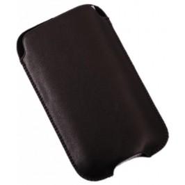 Калъф за телефон iPHONE 4, изработен от мека еко кожа - черен