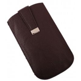 Калъф за телефон Samsung S3 с капаче с магнит, изработен от еко кожа - тъмно кафяв