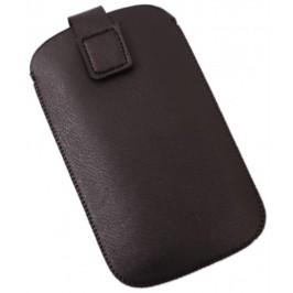 Калъф за телефон Samsung S3 с капаче, изработен от еко кожа - черен