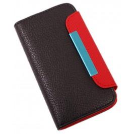 Калъф за телефон iPHONE 4 с капак, изработен от еко кожа