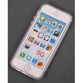 Калъф за телефон iPHONE 5, изработен от здрав и устойчив силикон - прозрачен