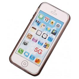 Калъф за телефон iPHONE 5, изработен от здрав и устойчив силикон - черен