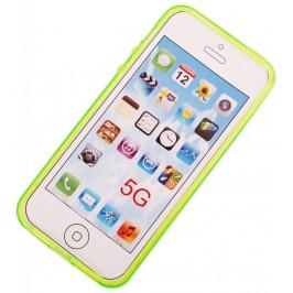 Калъф за телефон iPHONE 5, изработен от здрав и устойчив силикон - зелен