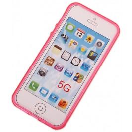 Калъф за телефон iPHONE 5, изработен от здрав и устойчив силикон - розов