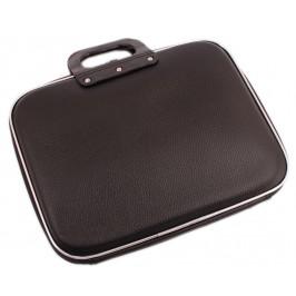 Чанта за лаптоп 14 инча, изработена от изкуствена кожа - кафява