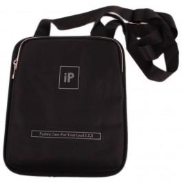 Калъф за таблет IPad 10 инча с дръжка и два отделни джоба, изработен от текстил - черен