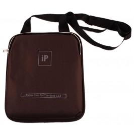 Калъф за таблет IPad 10 инча с дръжка и два отделни джоба, изработен от текстил - кафяв