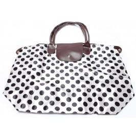 Сгъваема чанта с кожени дръжки