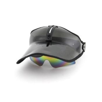 Стилна козирка с плъзгащи се тъмни очила