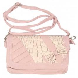 Дамска чанта с декоративна панделка - изкуствена кожа