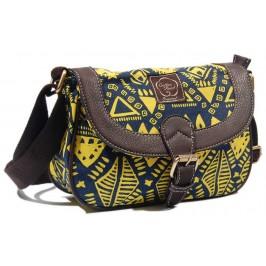 Цветна дамска чантичка с удобни дръжки за рамото