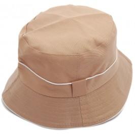 Лятна шапка от плат с декоративен кант