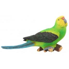 Сувенирна магнитна фигурка - папагал върху клон