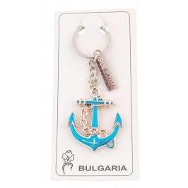 Сувенирен ключодържател във формата на котва с пластинка - България