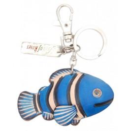 Ключодържател с кожена фигурка - рибка