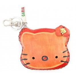 Кожено портмоне във формата на глава на котка