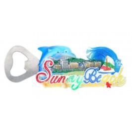 Магнитна отварачка във формата на делфини и надпис - Слънчев бряг с морски мотиви