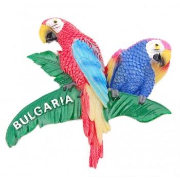 Декоративна релефна фигурка във формата на папагали върху клон - България