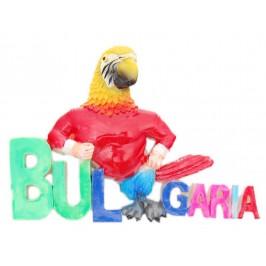 Декоративна релефна фигурка във формата на папагал с надпис България