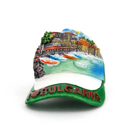 Релефна декоративна фигурка с магнит във формата на шапка