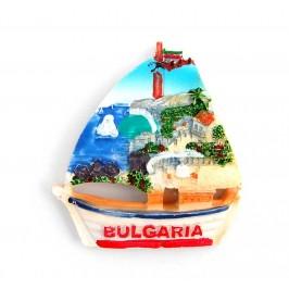 Релефна декоративна фигурка с магнит във формата на лодка - България