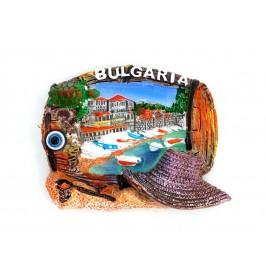 Декоративна фигурка с магнит във формата на бъчва - България