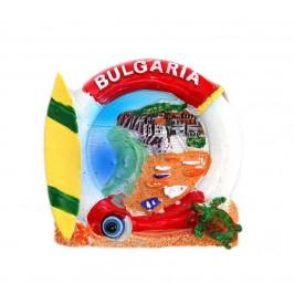 Декоративна фигурка с магнит във формата на спасителен пояс и сърф - България