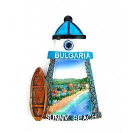 Декоративна фигурка с магнит - фар с надпис Слънчев бряг