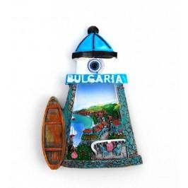 Декоративна фигурка с магнит - фар с надпис България