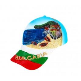 Декоративна фигурка с магнит във формата на шапка - морски пейзаж - България