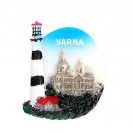 Декоративна фигурка с магнит във формата на фар - катедралата във Варна