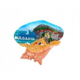 Декоративна фигурка с магнит във формата на рапан - морски пейзаж - България