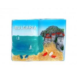 Декоративна фигурка с магнит във формата на книга - морски пейзаж - България