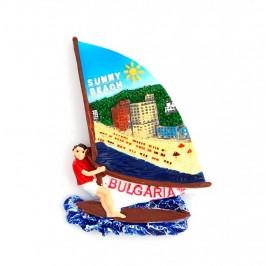 Декоративна фигурка с магнит - сърфист - Слънчев бряг