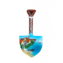 Декоративна фигурка с магнит във формата на лопатка - морски пейзаж - България