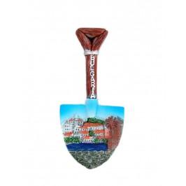 Декоративна фигурка с магнит във формата на лопатка - старата мелница в Несебър - България