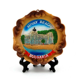 Сувенирна релефна чиния - хотел на Слънчев бряг