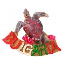 Декоративна релефна фигурка във формата на костенурка и надпис - България