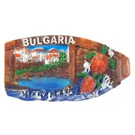 Декоративна релефна фигурка с магнит - морски пейзаж, България