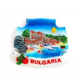 Декоративна фигурка с магнит - морски пейзаж - България